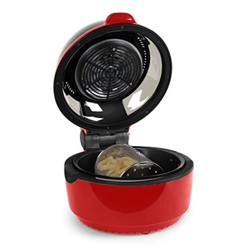 Klarstein VitAir Heißluftgarer Heißluftfritteuse Fritteuse ohne Öl für fettarmes Grillen, Backen oder Garren (1400W, Halogen-Infrarot-Heizelement, 9 Liter, mit Timer) rot - 2