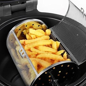 Klarstein VitAir Heißluftgarer Heißluftfritteuse Fritteuse ohne Öl für fettarmes Grillen, Backen oder Garren (1400W, Halogen-Infrarot-Heizelement, 9 Liter, mit Timer) rot - 6