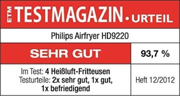 Philips HD9220/50 Airfryer Heißluftfritteuse, 1425 W, weiß - 6